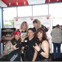 STEEL PANTHER MEET AND GREET HUSTLER HOLLYWOOD ALL YOU CAN EAT 4/3/2014 NSFW