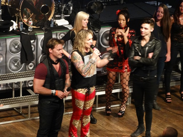 Steel panther with chris jericho and andy biersack from black veil steel panther chris jericho and andy biersack bvb house of blues 4142014 rock you like a hurricane m4hsunfo