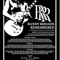 Randy Rhoads Remembered June 3, 2014 at The Stone Pony Asbury Park, NJ – UPDATED INFO