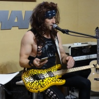 RUSS PARRISH SATCHEL from STEEL PANTHER FISHMAN BOOTH NAMM 1/21/2016