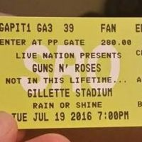 GUNS N ROSES Gillette Stadium Foxborough, MA 7/19/2016