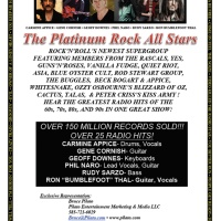 New Supergroup PLATINUM ROCK ALL STARS features Carmine Appice, Bumblefoot, Geoff Downes, Rudy Sarzo, Gene Cornish, Phil Naro