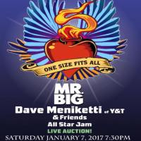 MR. BIG, Y&T'S DAVE MENIKETTI AND FRIENDS TO PERFORM SPECIAL TRIBUTE CONCERT TO CELEBRATE THE LIFE OF LEGENDARY RECORDING ENGINEER TOM SIZE