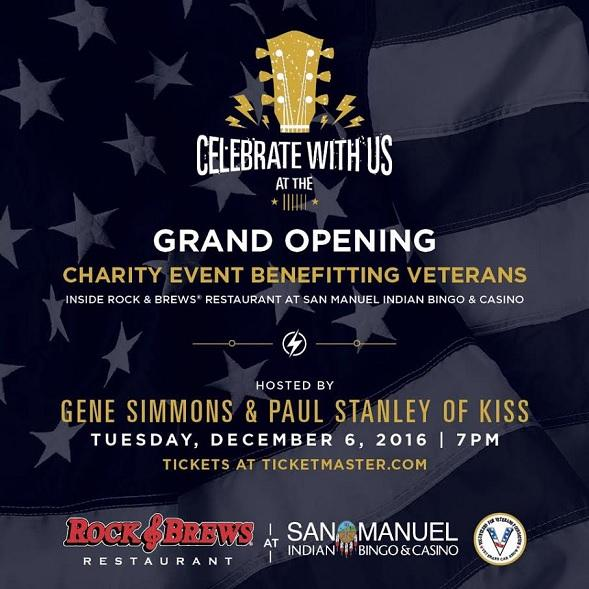 Gene Simmons and Paul Stanley of KISS Meet and Greet Grand Opening of Rock and Brews at San Manuel Indian Bingo and Casino Tuesday  Dec    at  pm Heavy Metal Hill
