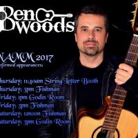 BEN WOODS Confirmed NAMM 2017 Appearances at FISHMAN GODIN and STRING LETTER