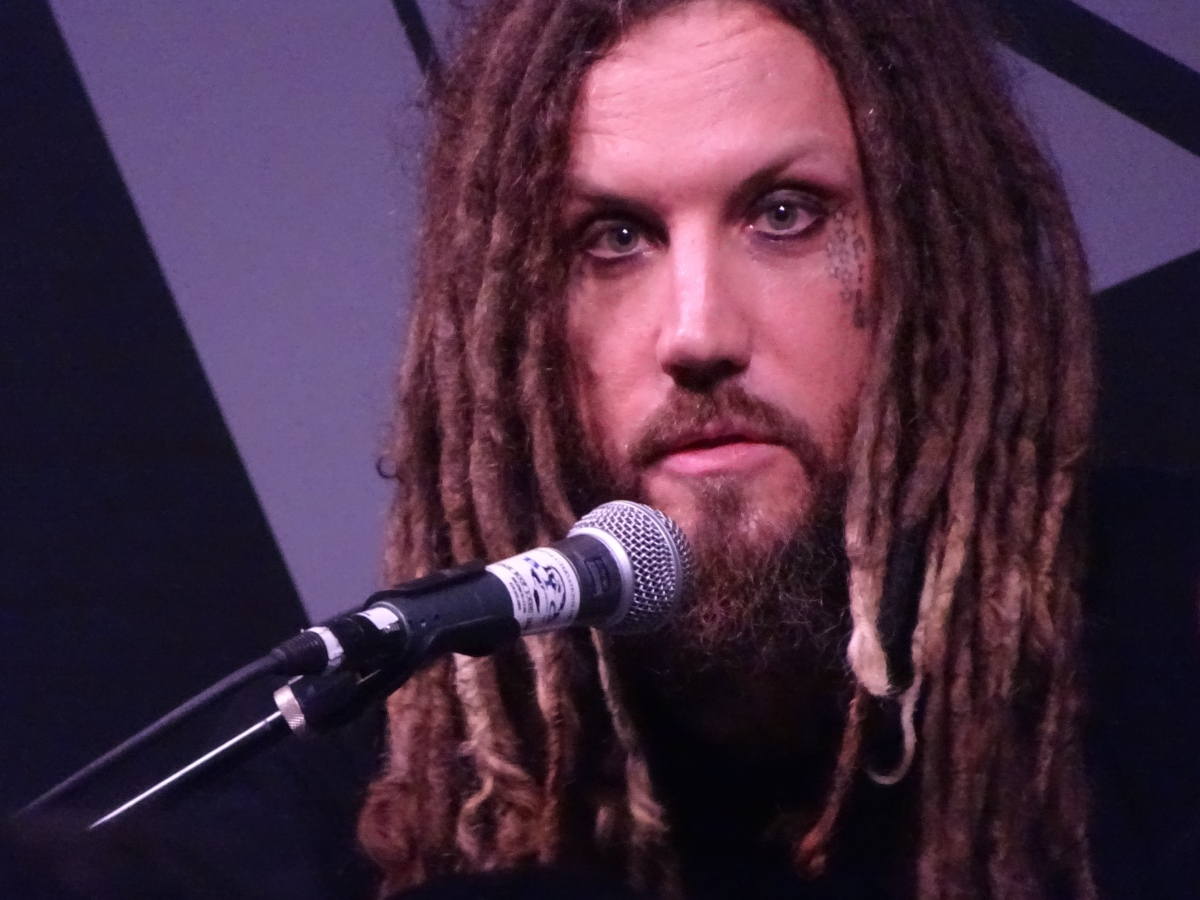 "BRIAN ""HEAD"" WELCH of KORN NAMM ESP BOOTH 1/21/2"