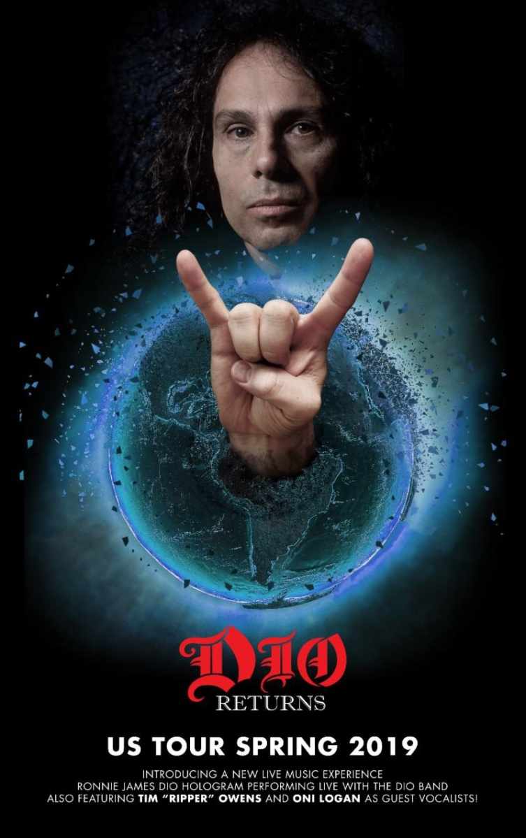 DIO RETURNS U.S. Tour 2019,  Featuring the DIO Band and Special Guest Vocalists Presented by Eyellusion