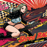 Shred RACERS ONLINE F2 Live Stream Show Featuring Some of Japan's Finest Technical Guitarists Including Li-sa-X, SAKI and Ediee Ironbunny